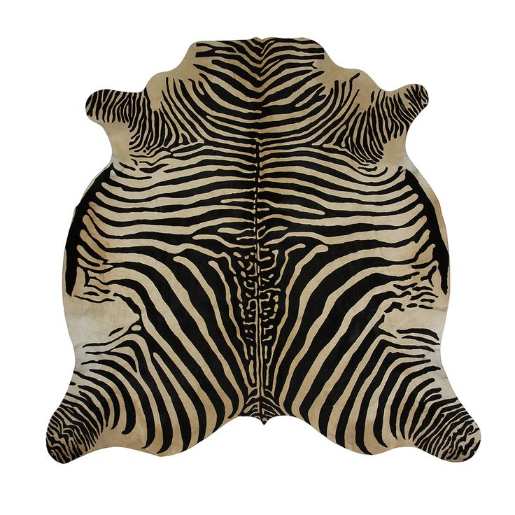 add a dash of the exotic to the home with this zebra cowhide rug from amara