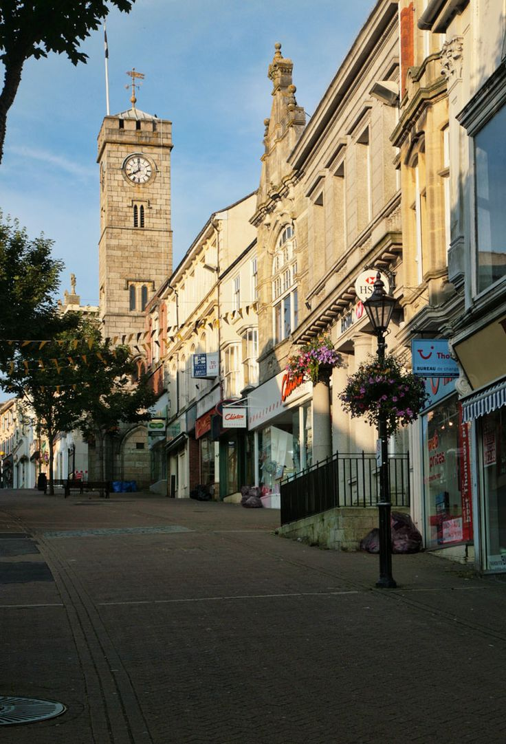 Redruth town centre- Frida's birthplace