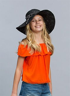 Urban Angel Fashion Lucie Off Shoulder Top Cherry Tomato top