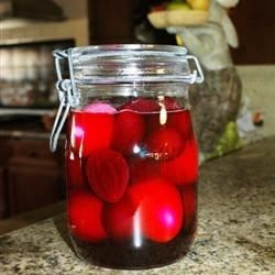 Easy and simple way to make pickled beets and eggs. You can double the recipe for larger gatherings. This is my late grandmother's recipe and everyone loves it. Will keep in fridge for up to 2 weeks.