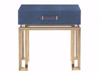 Rechteckiger Nachttisch aus Leder mit Schubladen TRAFALGAR   Nachttisch - Gianfranco Ferré Home