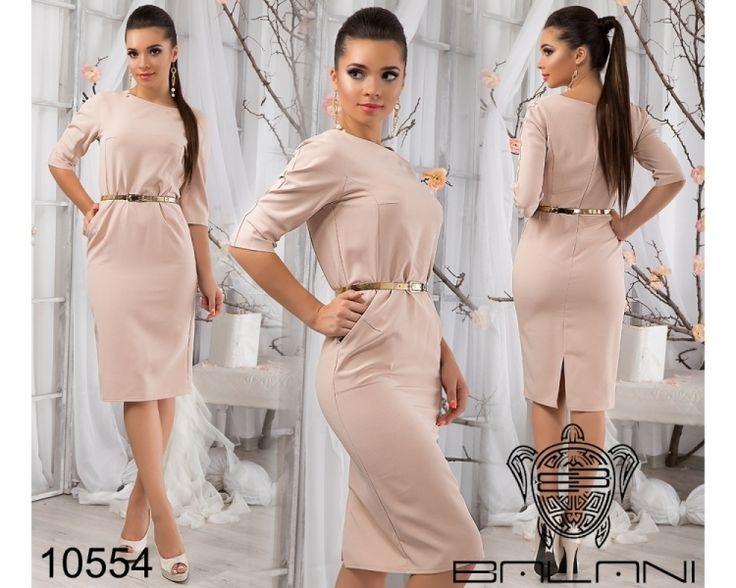 Одежда Деловое облегающее платье - 10554