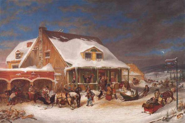 Krieghoff, Cornelius - Après le bal, chez Jolifou - Art Gallery of Ontario, Toronto