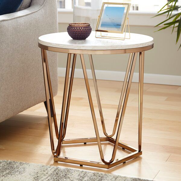 Trygve End Table Side Table Marble End Tables End Tables