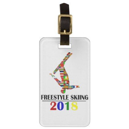 2018 FREESTYLE SKIING BAG TAG - winter gifts style special unique gift ideas