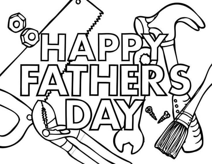 Happy Fathers Day 2 Coloring Page Pages Are A Great Way To End