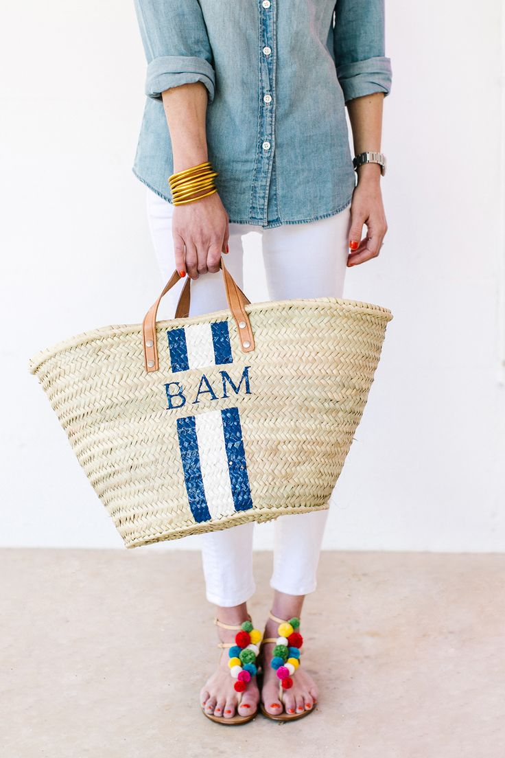 25  best ideas about straw tote on pinterest