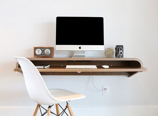 Are floating wall desks still a thing? If you think so, then this one will suit you just fine. Mount it to any wall for a multi-purpose workspace or landing pad. It's especially suited for sm…