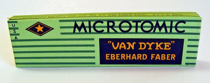 DECO-STYLE MICROTOMIC VAN DYKE EBERHARD FABER DRAWING PENCIL NO. 600 SET of 12 #MICROTOMICVANDYKEEBERHARDFABERDRAWINGPENCIL