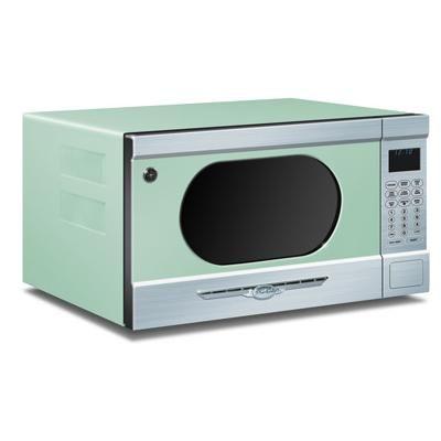 Contemporary microwave from elmira stove works model 1953 mint green bluegreen pinterest - Vintage kitchen features work modern kitchen ...