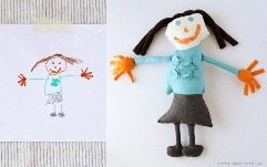 I love this idea! Taking your child's drawing and making it into something real! I remember I used to always draw my imaginary friend, she was a princess, and I would have loved to have a real-life version of my drawings to play and share with! This is so beautiful!