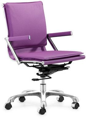 zuo lider plus purple office chair purple desk