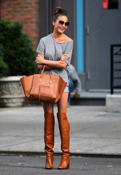shorts and lether boots