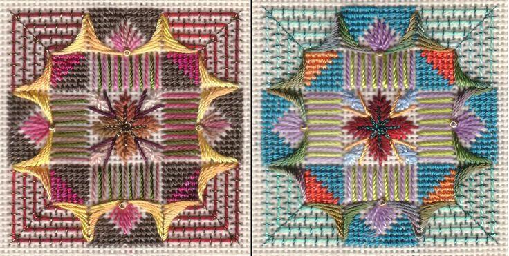 PETIT DOUBLE Classes, geometric needlepoint