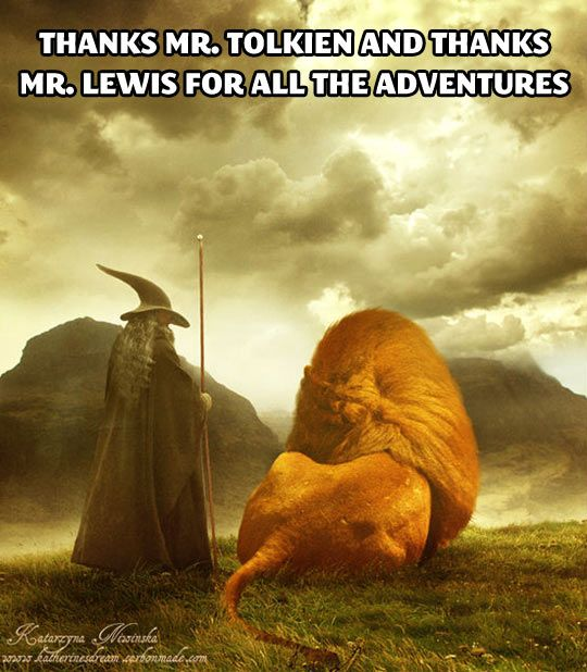 J.R.R. Tolkien and C.S. Lewis… best authors ever.