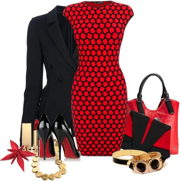 Office Wear transition to Evening Attire by flowerchild805 on Polyvore