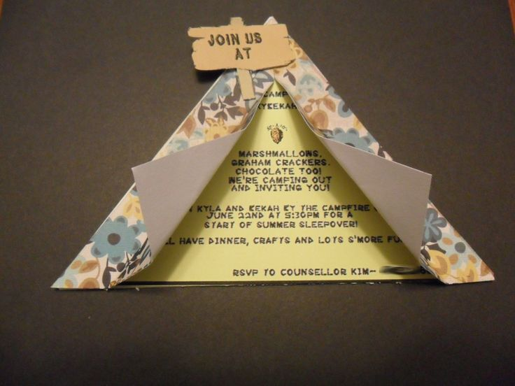 rhyming invites for camping party | we started things off by making and sending out these