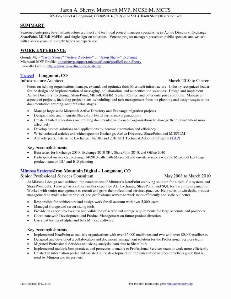 Technical Project Manager Resume 23 New Stock Technical