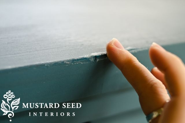 Milk Paint -- and using vaseline to allow the undercoat color to show through