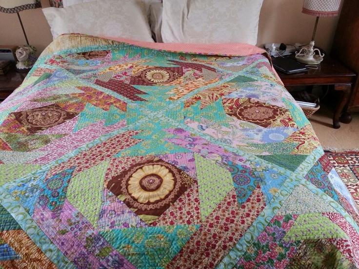 Giant pineapple quilt