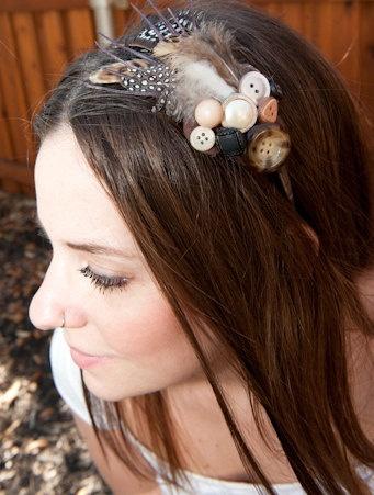 Handmade head band by MaggieKirby Etsy