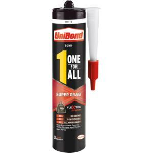 Unibond One For All Super Grab Solvent Free Grab Unibond One For All Super Grab Solvent Free Grab Adhesive.This waterproof grab adhesive from the One For All Super Grab range by UniBond is suitable for use with most common household bonding jobs on  http://www.MightGet.com/april-2017-1/unibond-one-for-all-super-grab-solvent-free-grab.asp