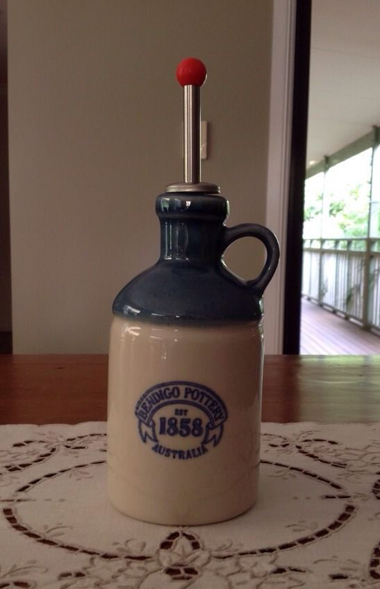 BENDIGO POTTERY OIL JAR