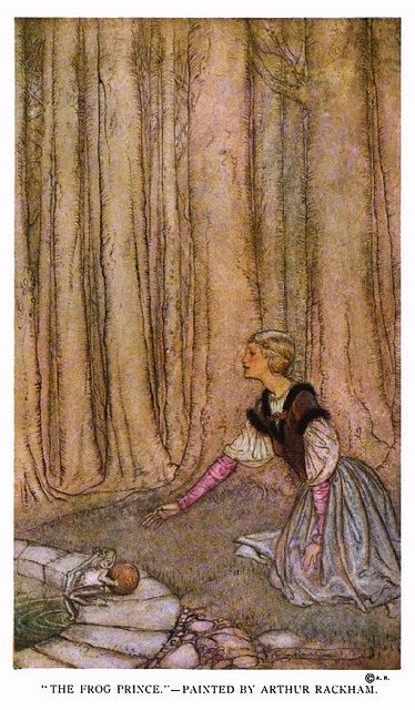 """The Frog Prince"" - Arthur Rackham. From ""St. Nicholas"" magazine, Vol. 41, Part 2, 1914."