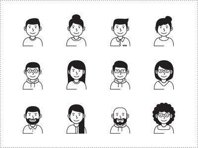 Male / Female Avatar Vector Icons