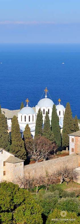 Monastery, Mount Athos, Greece. For luxury hotels in Halkidiki visit http://www.mediteranique.com/hotels-greece/halkidiki/