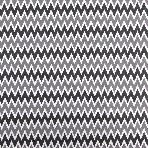 Vevet hvit /sort sikk sakk mønster - STOFF & STIL