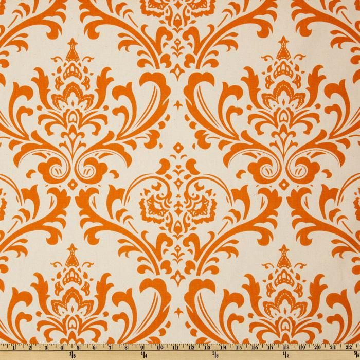 Premier Prints Traditions Natural/Sweet Potato from @fabricdotcom  Screen printed on cotton duck; this versatile medium weight fabric is perfect for window accents (draperies, valances, curtains and swags), accent pillows, duvet covers and upholstery. Create handbags, tote bags, aprons and more. *Use cold water and mild detergent (Woolite). Drying is NOT recommended - Air Dry Only - Do not Dry Clean. Colors include sweet potato orange and natural.