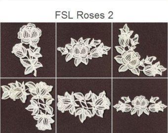 machine embroidery | daffodil machine embroidery design in free standing lace technique. - Google Search