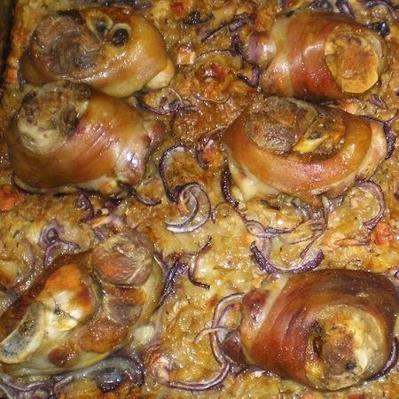 Kemencében sült csülök káposztaágyon burgonyával Recept képekkel - Mindmegette.hu - Receptek