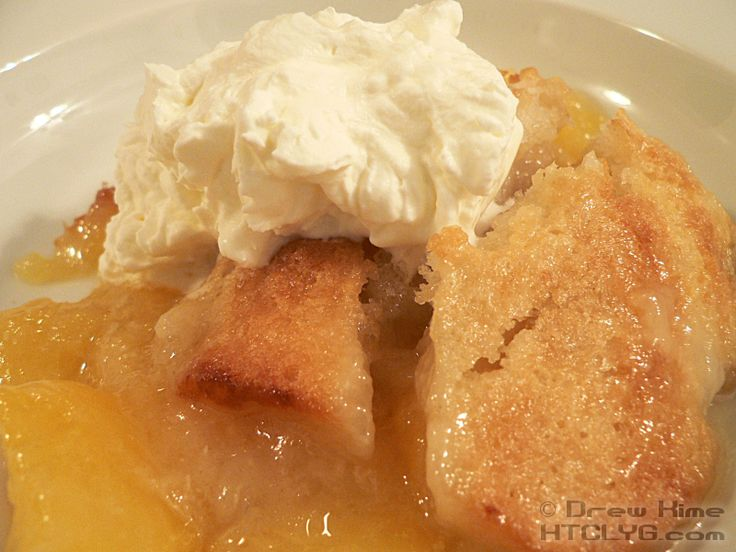 """Traditional Southern Peach Cobbler recipe, prep, and cooking photos from """"How To Cook Like Your Grandmother"""""""