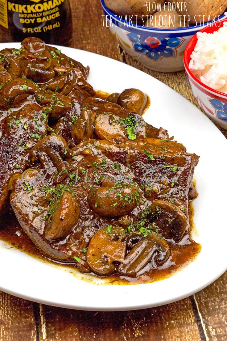Sirloin tip steaks slow cooked to perfection in a tasty teriyaki sauce ...
