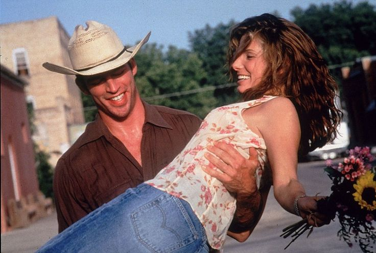 Old faithful: Bullock made her name - and continues to - by appearing in feel-good romantic comedies, such as Hope Floats with Harry Connick Jr. in 1998. In it Bullock plays a housewife who moves back to the small town she is from following the collapse of her marriage