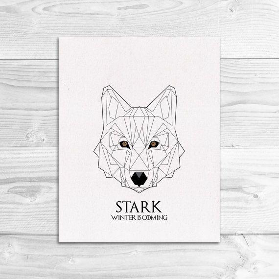 Game of Thrones House Stark Sigil Wall Art Print // LizzyPowersDesign $15.00 - 35.00 https://www.etsy.com/listing/241421478/game-of-thrones-house-stark-sigil-wall?ref=shop_home_active_4