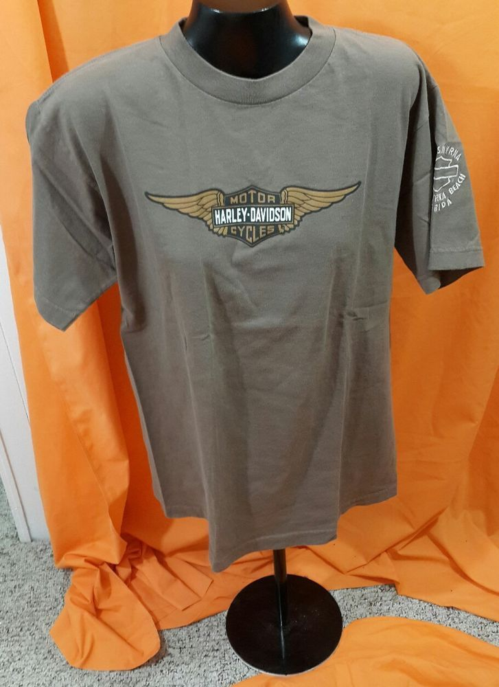 Details About Harley Davidson Motorcycles Logo Tee Shirt Size M New