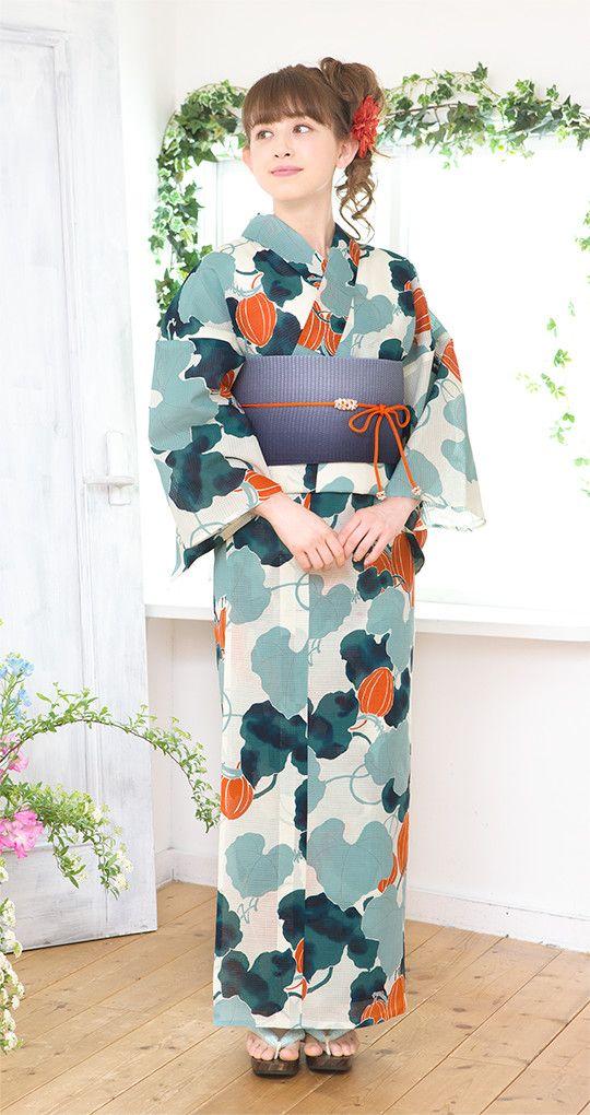 She is wearing a yukata. Yukata is kimono of summer.