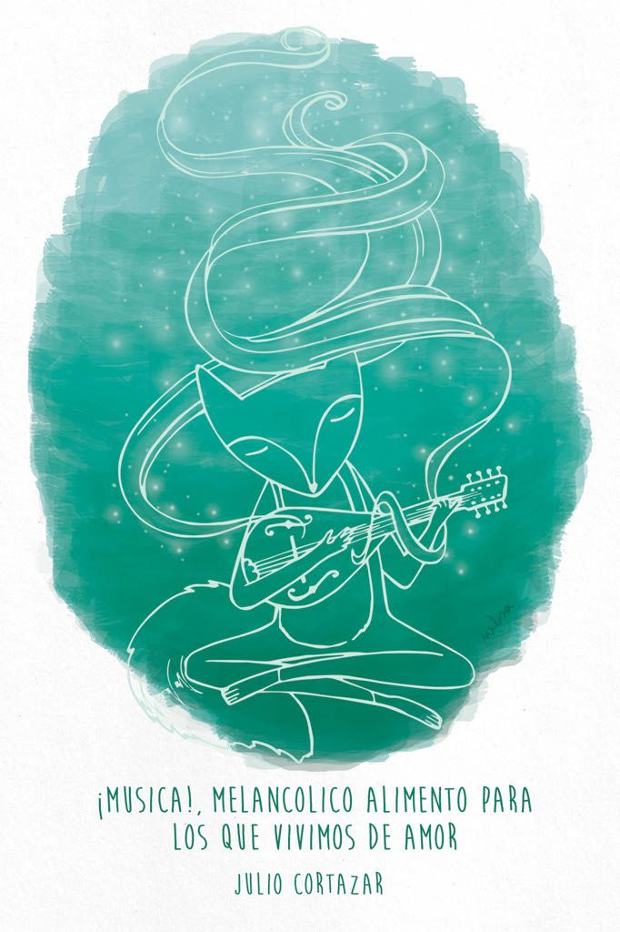 #zorro #ilustracion #dibujo #fox #quotes #cortazar - www.melisanavarro.com.ar