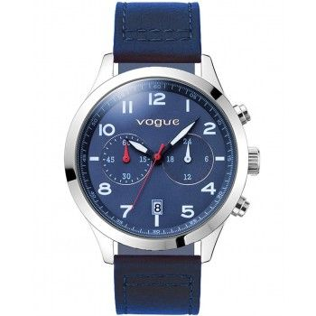 VOGUE Pirate Chronograph Blue Leather Strap 55031.5