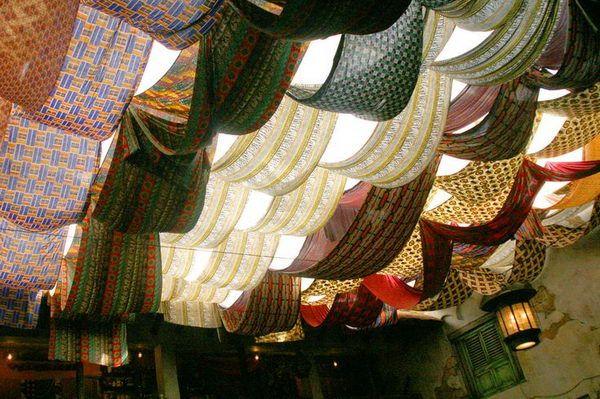 Fabric Ceiling, http://hative.com/cool-basement-ceiling-ideas/