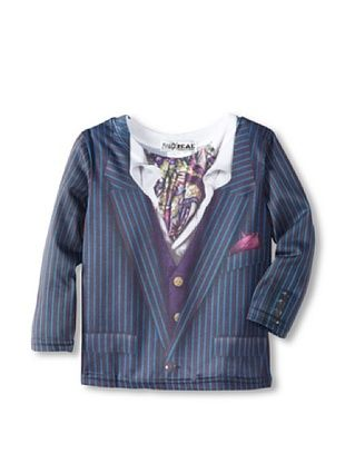 50% OFF Faux Real Kid's Pin Stripe Suit Tee (Navy)
