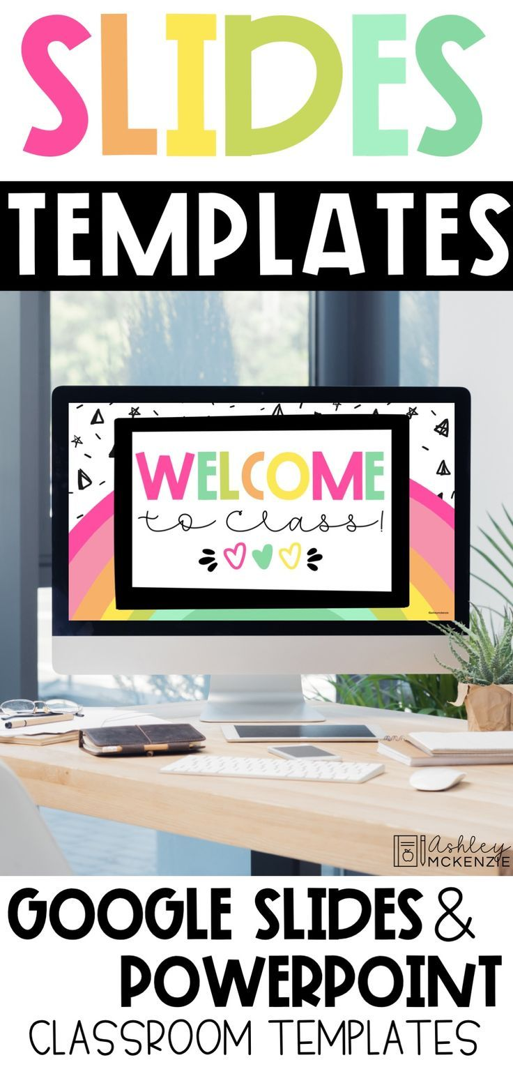 Google Slides Templates Rainbow Theme Distance Learning In 2020 Google Classroom Elementary Online Teaching Distance Learning