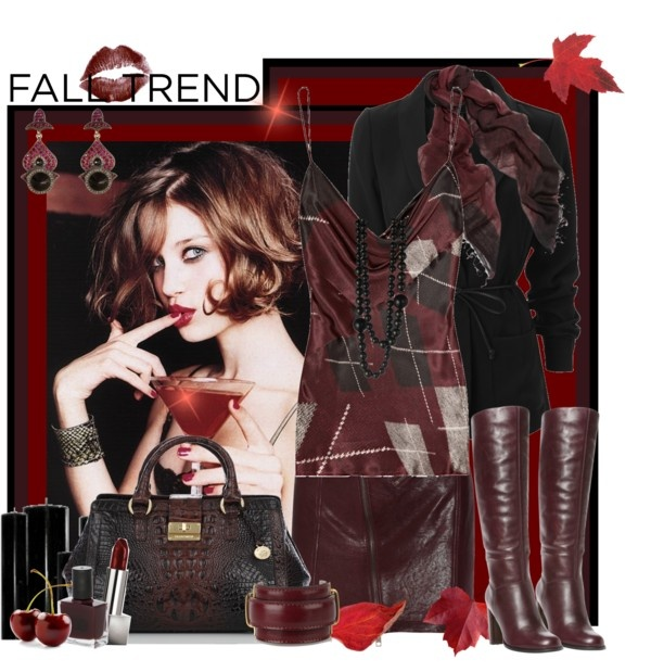 """""""Fall Trend: McQueen Oxblood Mini Skirt"""" by janice-darnell-knowles ❤ liked on Polyvore"""