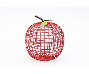SELETTI Cestino portafrutta in metallo Apple rosso - D 30 cm