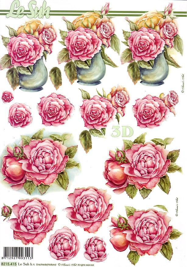 213 best 3d flowers images on pinterest | 3d cards, 3d sheets and