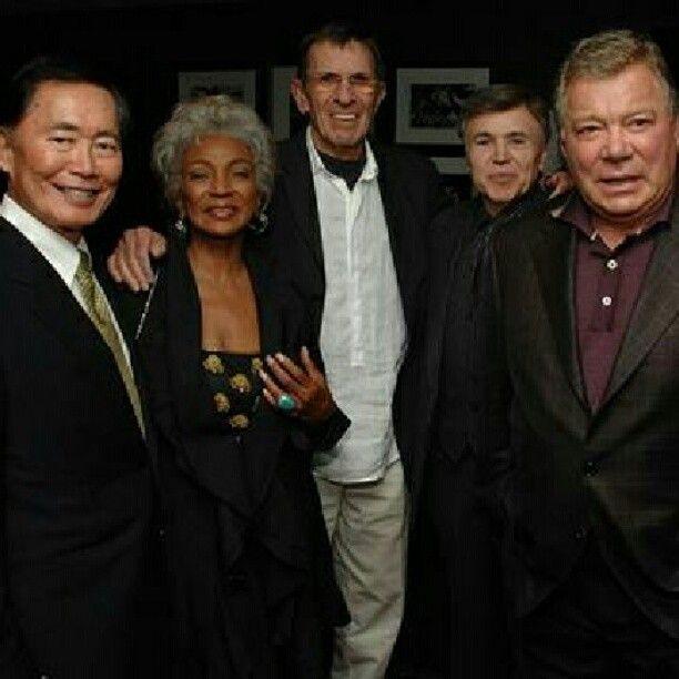 Surviving Originals. Left-to-Right ~ Sulu, Uhrua, Spock, Checkov, Kirk