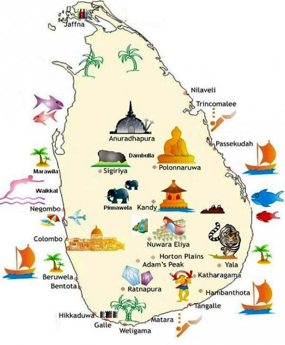 Carte Sri Lanka Nilaveli.Carte Du Sri Lanka Backpacker Backpacker Illustration